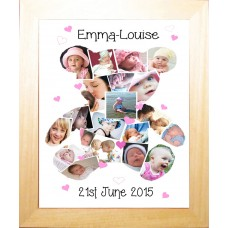 Teddy Personalised Photo Collage Print