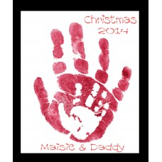 Parent & Child Hand Prints Keepsake Creation